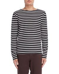 Le Mont St Michel - Black & White Striped Long Sleeve Tee - Lyst