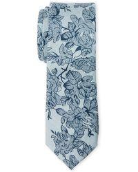 Original Penguin - Baby Blue Moodie Floral Slim Tie - Lyst