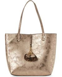 Imoshion - Gold-tone Faux Suede Ashley Tote - Lyst