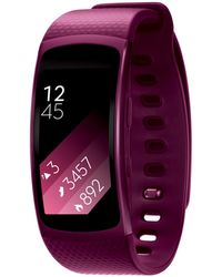 Samsung - Pink Small Gear Fit 2 Gps Sports Band - Lyst