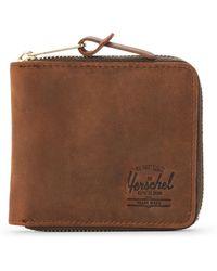 Herschel Supply Co. - Nubuck Walt Zip-around Leather Wallet - Lyst