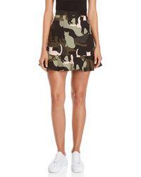 Paul & Joe - Cat Camo Flounce Skirt - Lyst