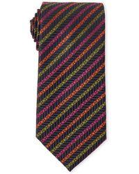 Missoni - Navy Stripe Silk Tie - Lyst