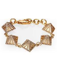 Lulu Frost - Gold-tone Apex Bracelet - Lyst