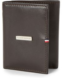 d804dfc293 Tommy Hilfiger Barrington Leather Wallet in Black for Men - Lyst
