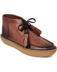 Prada - Brown Leather Chukka Boots - Lyst