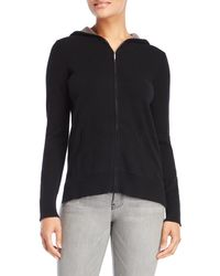 Ply Cashmere - Color Block Cashmere Zip Hoodie - Lyst