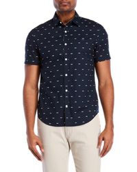 Original Penguin - Mustache Print Short Sleeve Shirt - Lyst