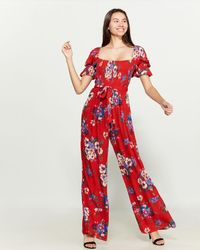 Band Of Gypsies - Manchester Floral Jumpsuit - Lyst