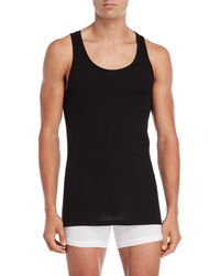 Tommy Hilfiger 3-pack Classic Ribbed Tanks - Black