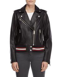 Levi's - Black Faux Leather Moto Jacket - Lyst