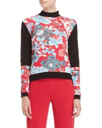 Leonard - Printed Mock Neck Sweater - Lyst