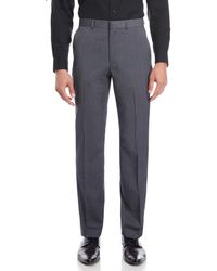 Kenneth Cole - Medium Grey Neat Slim Suit Pants - Lyst