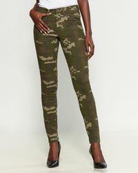 William Rast Green Camo Jane Skinny Cargo Pants