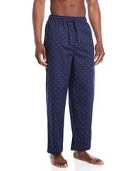 Tommy Hilfiger - Dark Navy Logo Print Sleepwear Pants - Lyst