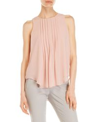 Premise Studio - Pleated Panel Sleeveless Blouse - Lyst