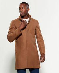 Theory Camel Marvin Wool-blend Overcoat - Brown