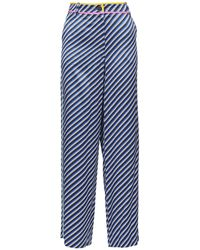 Tory Burch Striped Pants - Blue