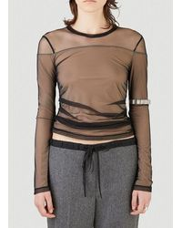 Helmut Lang Tulle Layered Top - Black