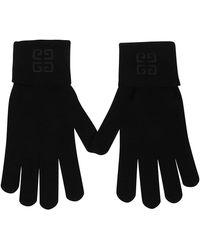 Givenchy Bgz01ug032001 Wool Gloves - Black
