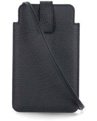 Maison Margiela Four-stitches Phone Holder - Black