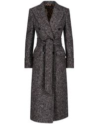 Dolce & Gabbana Double Breasted Coat - Grey