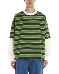 Sunnei Layered Striped T-shirt - Green