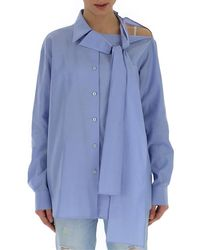 Prada Bow-detail Shirt - Blue