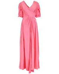 Lanvin - Long Silk Dress - Lyst