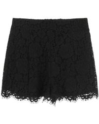 RED Valentino Lace Shorts - Black