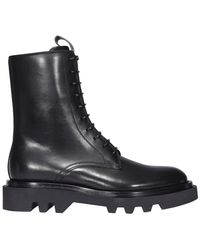Givenchy Combat Lace Up Boots - Black