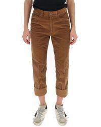 Marc Jacobs High Waist Straight Leg Pants - Natural