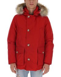 Woolrich Hooded Coat - Red