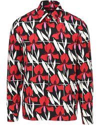 Prada Jacquard Print Shirt - Red
