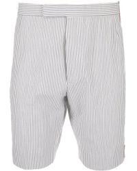 Thom Browne - Seersucker Striped Shorts - Lyst