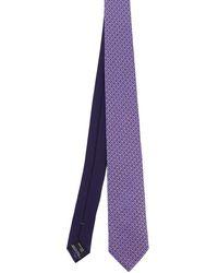 Missoni Geometric Print Tie - Purple