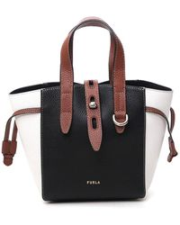 Furla Net Mini Top Handle Bag - Black