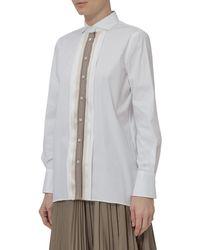 Brunello Cucinelli Stripe Detail Shirt - White