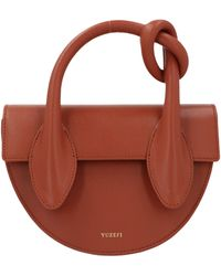 Yuzefi Leather Dolores Knot Bag - Brown