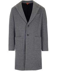 Barena Single-breasted Tailored Coat - Grey