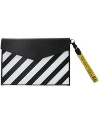 Off-White c/o Virgil Abloh Diagonal Stripe Clutch Bag - Black