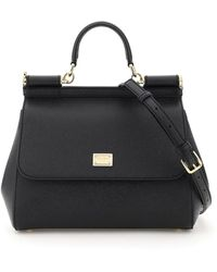 Dolce & Gabbana Medium Sicily Bag - Black