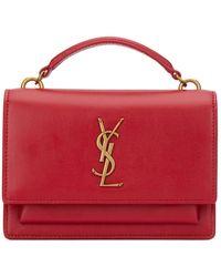 Saint Laurent Sunset Monogram Chain Bag - Red