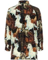 KENZO Horses Print Shirt - Multicolour