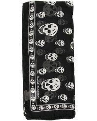 Alexander McQueen Skull Print Scarf - Black