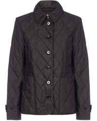 Burberry Diamond Quilted Jacket - Black