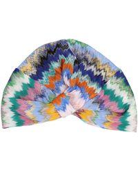 Missoni Interwoven Embroidered Slip-on Hat - Blue