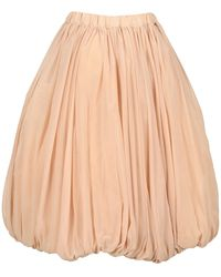 Comme des Garçons Pleated Balloon Skirt - Natural