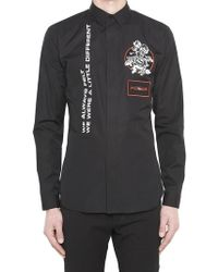 Dior Homme - Rose Embroidered Shirts - Lyst