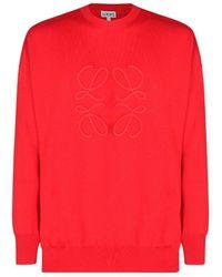 Loewe Anagram Stitch Jumper - Red